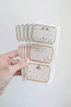 Load image into Gallery viewer, linchianing Vintage Label sticker sheet set pack