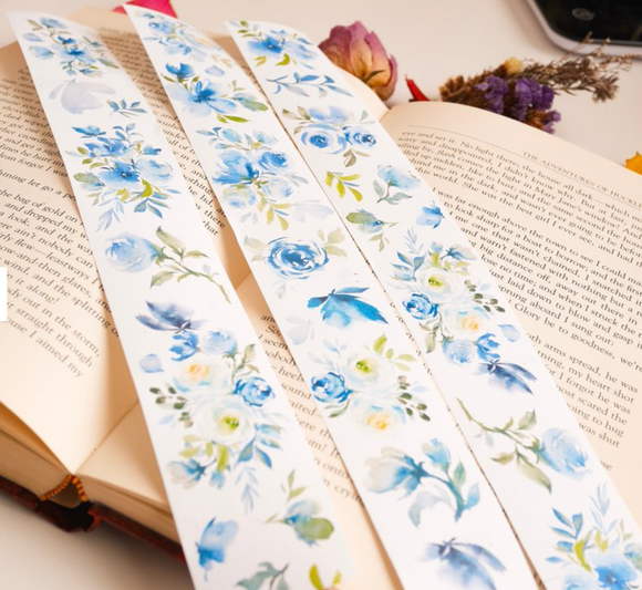 [Samples Only] Meow Illustration Tranquil Garden Flowers Masking Washi Tape