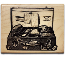 Load image into Gallery viewer, Keep a Notebook Wooden Rubber Stamp A B C D E F