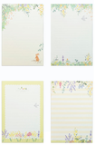 NanPao Watercolor Bird and Flowers Notepad Letter Sheets