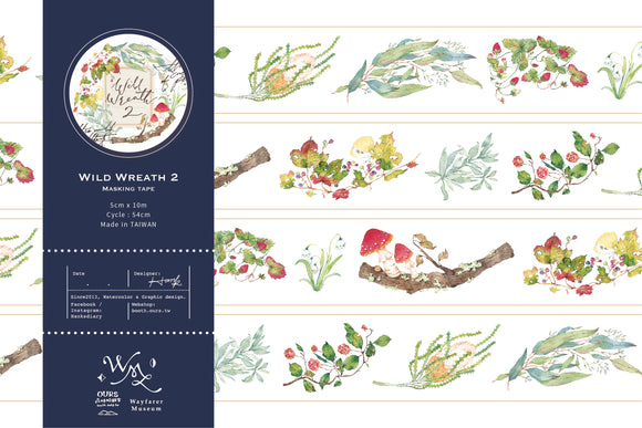 [SAMPLE ONLY] OURS Studio Wild wreath 2 Washi Tape