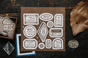 OURS Studio Tags Letterpress Label Book