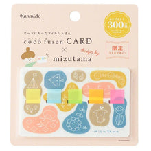 Load image into Gallery viewer, Mizutama Coco Fusen CARD Sticky Notes Illustrated Design