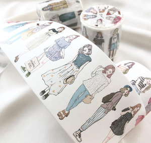 100cm SAMPLE or FULL ROLL 46 Girls Pion Washi Tape