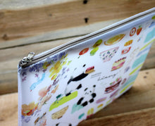 Load image into Gallery viewer, Liang Feng Watercolor Plastic Zipper Pouch B5 Huge Panda