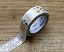 Load image into Gallery viewer, Ethos Card Original Design Gold Foiled Bird Washi Tape Roll
