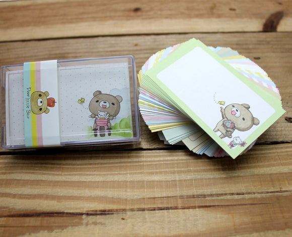 Dear Little Bear Message Cards with Plastic Case