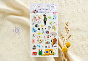 SUNNY CO. Daily Life Transparent Sticker Sheet D