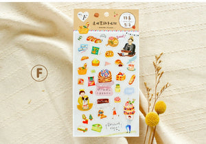 SUNNY CO. Daily Life Transparent Sticker Sheet F