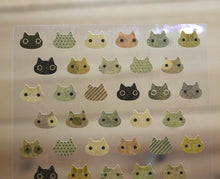 Load image into Gallery viewer, CAT CAT Kraft Brown Cat Simple Design Gold Foiled Sticker Sheet