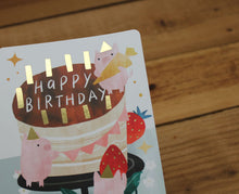 Load image into Gallery viewer, Cindy Chu Happy Birthday Card Pigs