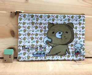 Dear Little Bear Plastic Zipper Pouch Version 2