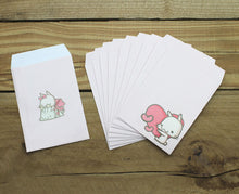 Load image into Gallery viewer, Happy Go Lucky Mini Envelopes 10pcs Pink