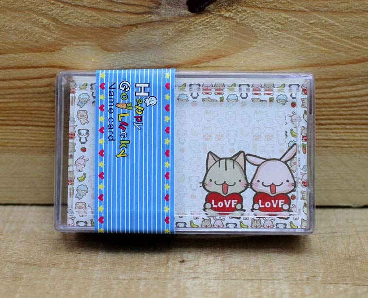 Happy Go Lucky Message Cards with Plastic Case