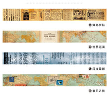 Load image into Gallery viewer, C.Ching Taiwan Vintage Washi Tape Roll A B C D