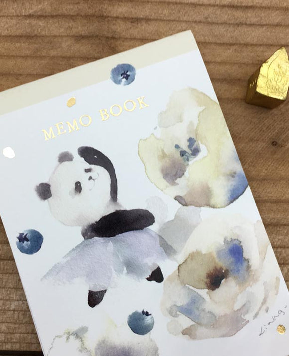 Liang Feng Watercolor Panda Notepad