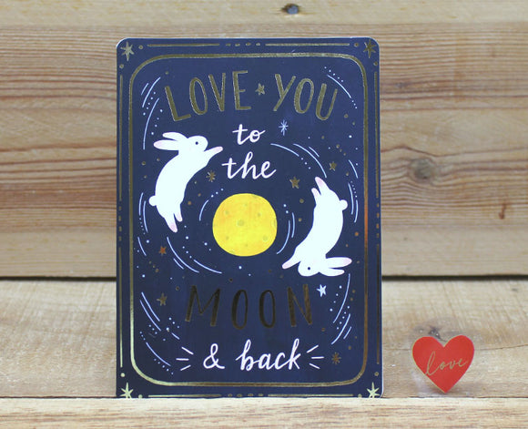 Cindy Chu Love You to the Moon & Back Rabbit Card