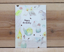 Load image into Gallery viewer, Liang Feng Watercolor Parrot Happy Birthday Card