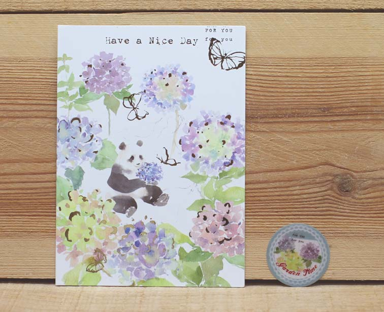 Liang Feng Watercolor Panda Have a Nice Day Card