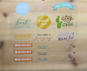 Mandie and Friends Transparent Sticker Sheet Planner