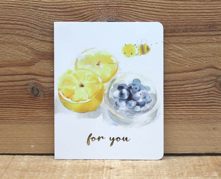 Liang Feng Watercolor Mini Card For You