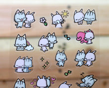 Load image into Gallery viewer, Meow Meow Transparent Sticker Sheet Version 2