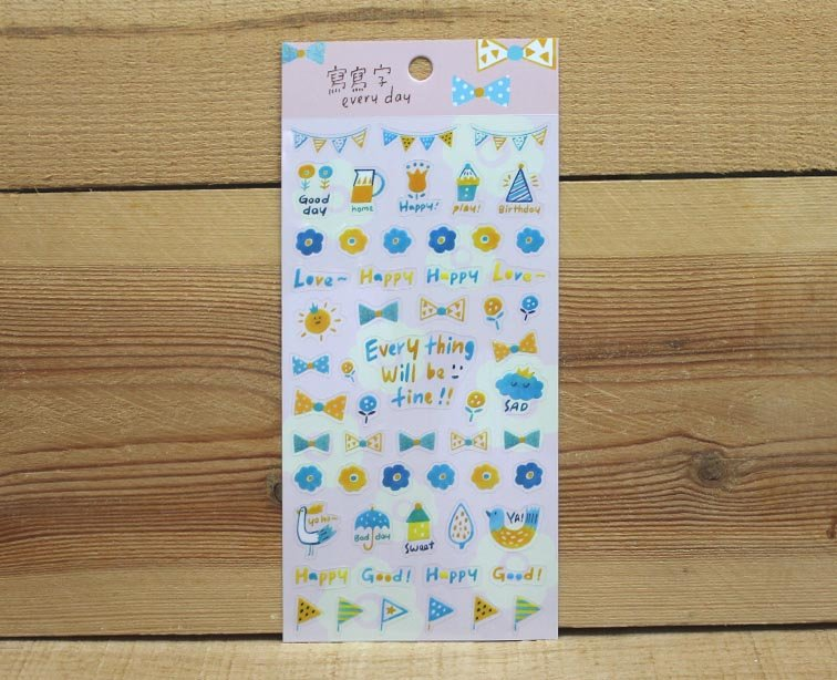 Jan Hsuan's Illustration Every Day Transparent Sticker Sheet
