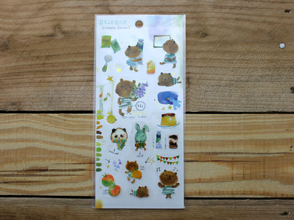 Liang Feng Watercolor Animal Transparent Sticker Sheet