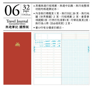 Keep a Notebook A5 Slim Note Regular Insert TN Travel Journal International Edition #6