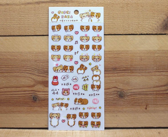 Corgi Kaka Transparent Sticker Sheet Version 1