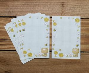 Dear Little Bear Tea Mini Stationery Letter Set