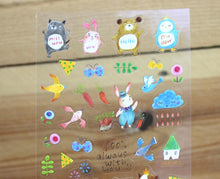 Load image into Gallery viewer, Jan Hsuan's Illustration Animal Transparent Sticker Sheet