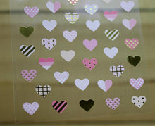 Load image into Gallery viewer, Ethos Card Originals Pink Heart Design Gold Foiled Sticker Sheet