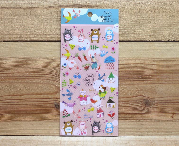 Jan Hsuan's Illustration Animal Transparent Sticker Sheet