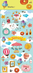 Jan Hsuan's Illustration Carnival Transparent Sticker Sheet