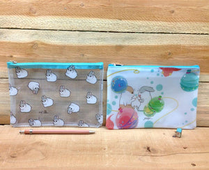 Machiko Plastic Zipper Pouch Larger Version 2 Designs