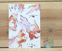 Load image into Gallery viewer, Liang Feng Watercolor Fish Gold Foiled Card