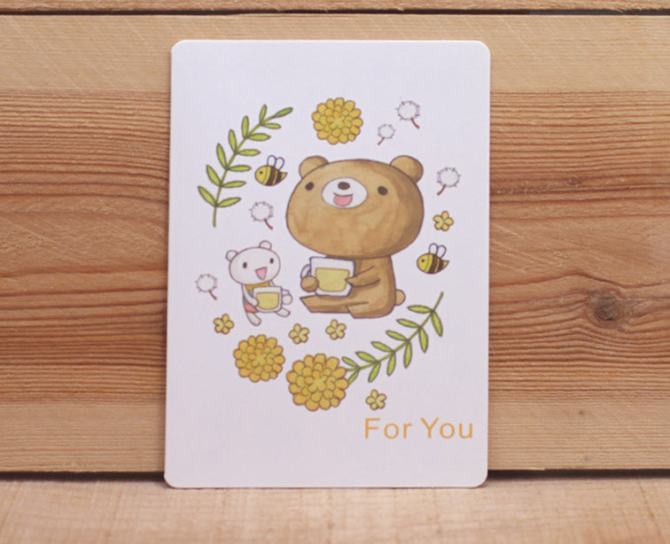 Dear Little Bear For You Card Tea