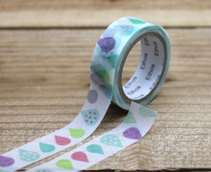 Ethos Card Original Design Raindrop Washi Tape Roll