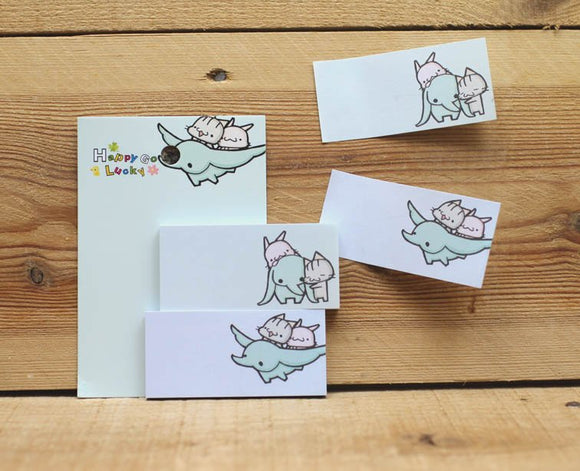 Happy Go Lucky Sticky Notes Set of 2