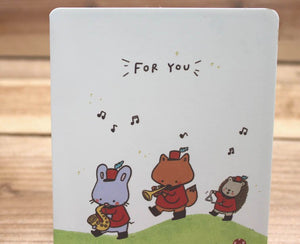 Mandie and Friends For You Card