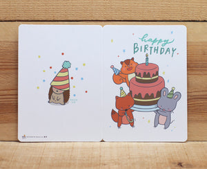 Mandie and Friends Happy Birthday Card