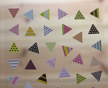 Load image into Gallery viewer, Ethos Card Originals Pink Triangle Design Gold Foiled Sticker Sheet
