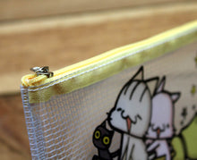 Load image into Gallery viewer, Meow Meow Plastic Transparent Zipper Pouch
