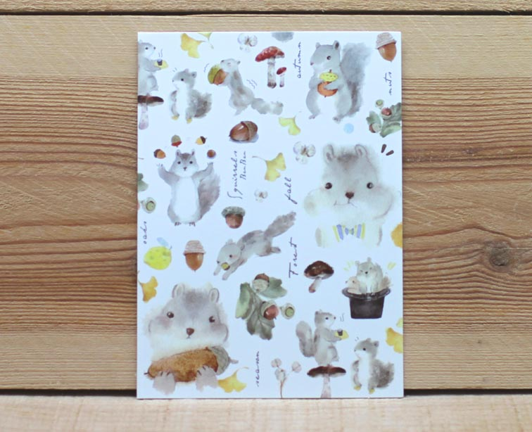Liang Feng Watercolor Squirrel Card Any Occasion