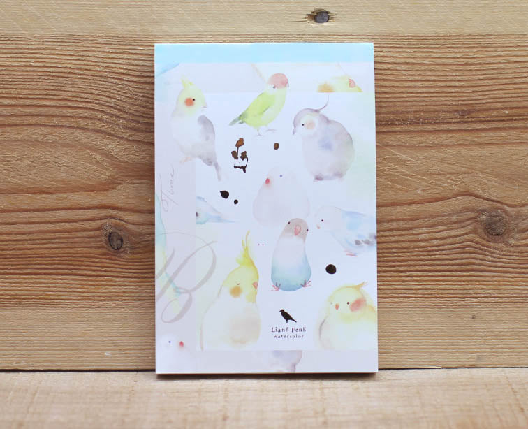 Liang Feng Watercolor Parrot Notepad