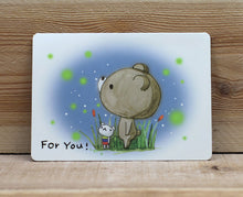 Load image into Gallery viewer, Dear Little Bear For You Card Fireflies in Night