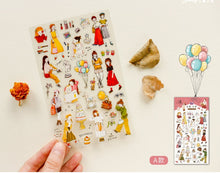 Load image into Gallery viewer, SUNNY CO. Girls Transparent Sticker Sheet A and B