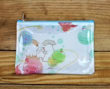 Load image into Gallery viewer, Machiko Plastic Zipper Pouch Larger Version 2 Designs
