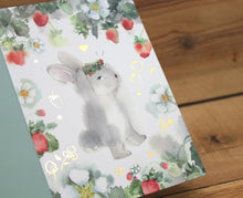 Load image into Gallery viewer, Liang Feng Watercolor Rabbit Card Any Occasion